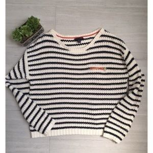 Tommy Hilfiger Knitted B&W Striped Sweater